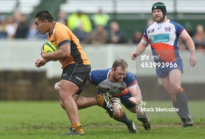 Michael Alaalatoa running the ball up against the Greater Sydney Rams in R1 of the NRC. Photo by Mark Metcalfe (Getty Images Sport)