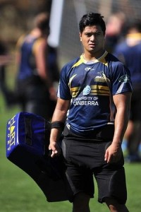 Rod Iona has recently been signed to the ACT Brumbies. Photo by Jeffrey Chan