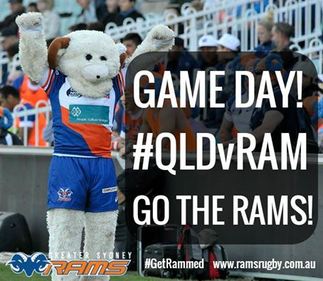 Queensland Country host the Greater Sydney Rams in R5 of the NRC. Photo located from www.ramsrugby.com.au