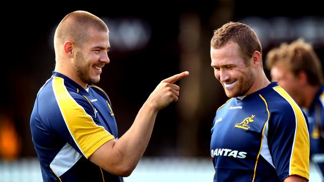 Ex-Wallabies' teammates Drew Mitchell and Matt Giteau, now play alongside each other at Toulon. Photo sourced from: www.foxsports.com.au