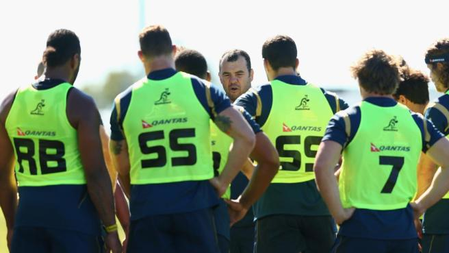 Cheika has culled his extended 40 man Wallabies squad down to 31, ahead of next Saturday's Rugby Championship opener. Photo sourced from: www.allrugbynews.com