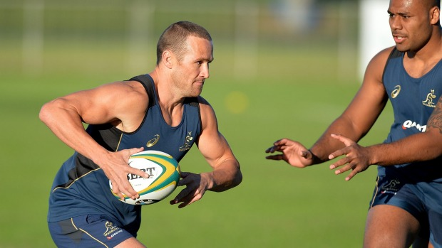 Matt Giteau is set to combine with Quade Cooper as a second playmaker for the Wallabies against the Boks in Brisbane. Photo sourced from: Getty Images